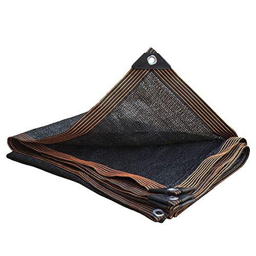 Filet d'ombrage Toile D'ombrage Pare-soleil Noire - Rectangle 95% Bloc UV Pour la Terrasse du Patio et les Activités de Plein Air, Oeillets en Aluminium (Size : 5×6m)