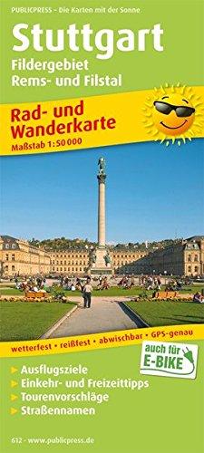 Stuttgart, Fildergebiet - Rems- und Filstal: Rad- und Wanderkarte mit Ausflugszielen, Einkehr- & Freizeittipps. 1:50000 (Rad- und Wanderkarte / RuWK)
