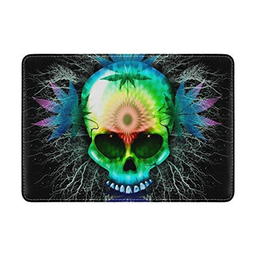 My Daily Psychedelic Skull Marihuana - Funda protectora para pasaporte (piel)