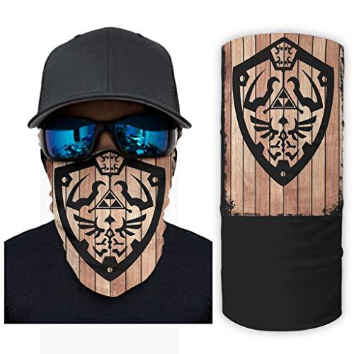 CCMugshop Máscara de pasamontañas, de Zelda, con impresión artística, para exteriores, transpirable, color blanco, talla única