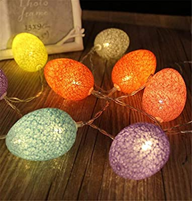 PURETIME Festival Easter Eggs Battery Operated Fairy String Lights, Lovely Decorative String Lights Indoor Outdoor for Halloween Set Up, Store,Party, Home, Patio Lawn