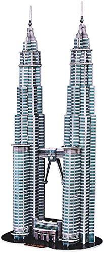 Playtastic 3D Modellbau Puzzle: 3D-Puzzle Petronas Towers (Kinderspielzeug)