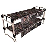 Disc-O-Bed Large Cam-O-Bunk Benchable Double Cot w/Organizers, Mossy Oak