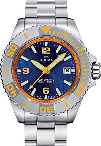 Delma Taucher/-Sportuhr Herren Automatik Metallband 407023/029 (blau)