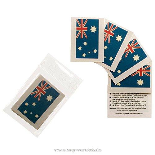 5 x Australien Tattoo Fan Fahnen Set - WM 2018 Australia temporary tattoo Flag (5)