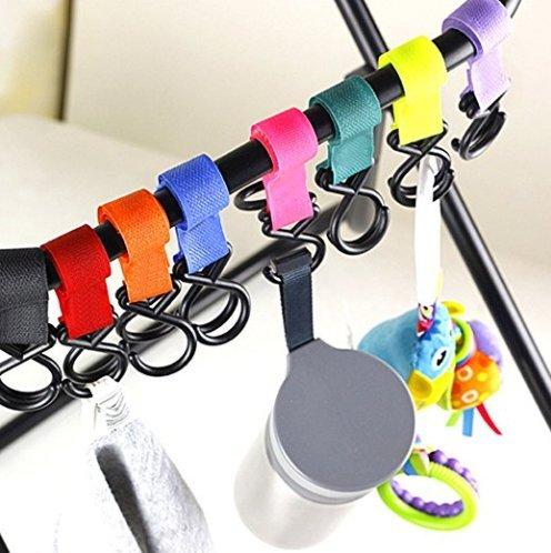 Eximtrade Bebè Bambino Carrozzina Passeggino Gancio Appendiabiti Accessori Pannolino Borsa ( 5 pezzi con colore casuale)