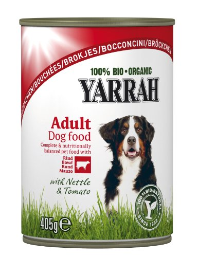 Yarrah Bio Bouchées au Bœuf pour Chien 405 g - Lot de 6