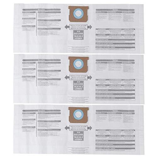 Senmubery Bolsa Universal para Polvo Seco Accesorio de Repuesto para Aspiradora de 5 a 8 Galones Ajuste para Shop Vac 90661 906-61 9066100