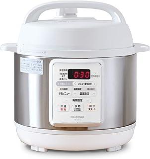 アイリスオーヤマ 電気圧力鍋 3.0L 12種類自動メニュー搭載 予約調理対応 ホワイト PC-EMA3-W