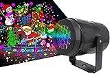 Projecteur LED de Halloween de Noël, Projecteur Noel Exterieur avec 16 Effets de Motifs, Projecteur Noel Exterieur LED Projecteur Halloween IP65 Projecteur de Lumière pour Noël, Halloween, Les Fêtes