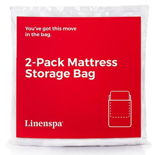 Linenspa Heavy Duty Mattress Storage Bags, Twin XL, Clear