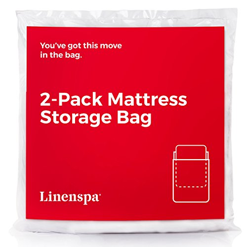 Linenspa Heavy Duty Mattress Storage Bags, Twin XL, White