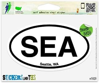 SEA Seattle Washington Oval Vinyl Car Bumper Window Sticker 5