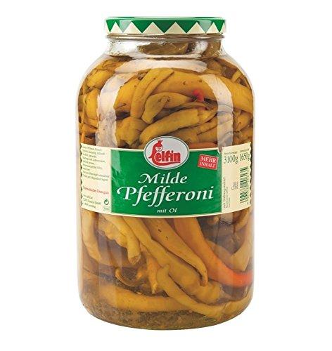 Elfin Pfefferoni mild in Öl 3,68l