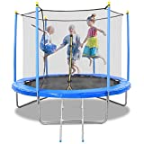 MaxKare 10FT Trampoline for Kids Trampoline with Enclosure 54 Springs & Capacity 264 lbs, Safety Net Jumping Mat Spring Cover Padding Exercise Fitness Indoor Outdoor