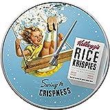 Nostalgic-Art Orologio da parete Kellogg's Swing to Crispness – Idea regalo per la cucina, Grande decorazione, Design vintage, Ø 31 cm