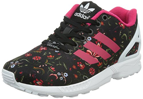 adidas Damen ZX Flux Sneakers, Schwarz (Core Black/Vivid Berry S14/Ftwr White), 36 2/3 EU