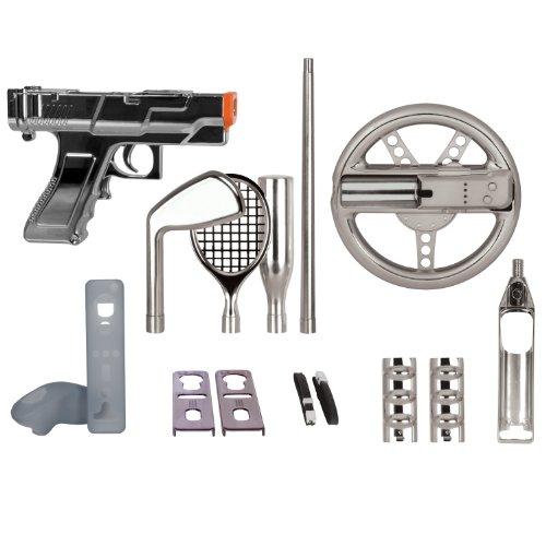 dreamGEAR Nintendo Wii 15-in-1 Player's Kit Plus (silver)