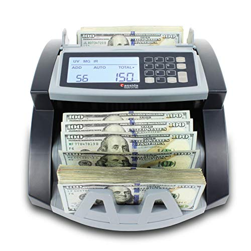 Cassida 5520 UV/MG - USA Money Counter with UV/MG/IR Counterfeit Detection - Bill Counting Machine w/ ValuCount, Add and Batch Modes - Large LCD...