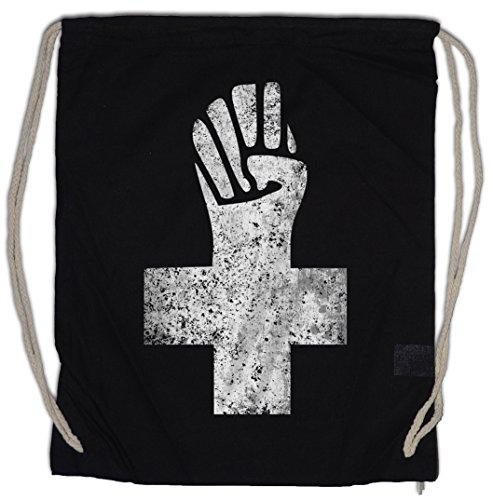 Urban Backwoods Anarchist Cross Bolsa de Cuerdas con Cordón Gimnasio Anarchy Logo...