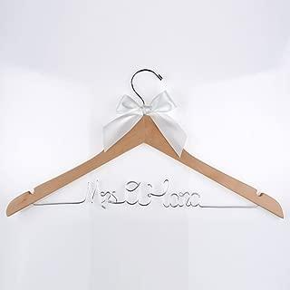 Vnque Custom Wedding hanger,Bride Gift