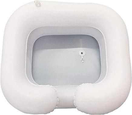 Langzeitbettruhe Behinderte Leicht Aufzupumpen Aufblasbares Shampoo-Becken , Aufblasbares Tragbares Wasch- Und Haarwaschbecken F/ür Haare Im Bett Leichte Reinigung Und Pflege Des Haares Behinderte