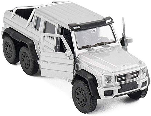1/24 Silver Children's Metal Body Original Cars Mini Diecast Model Truck Pull-Back Pullback Motor Light and Sound Vehicle Child Toy RC Toy Car for Kids Toy Gifts