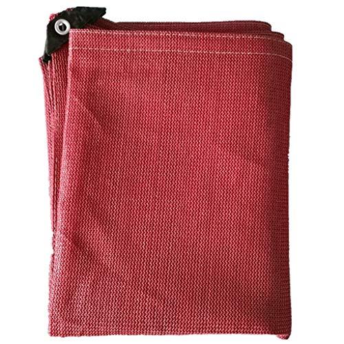 WXFQY Shade 90% de Sombra Neto UV-Resistente de Patio al Aire Libre Patio de la Cubierta Superior Piscina al Aire Libre Parasol lienzos de Malla Tabla Cubierta de la Vela de Color: Rojo óxido Cifrado