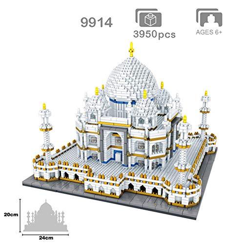 AIYA Mundialmente Famosa Arquitectura India Taj Mahal Palace 3D Modelo Diamante Mini DIY Micro construcción Nano Bloques Ladrillos Juguete para niños para niño y niña Regalo de cumpleaños