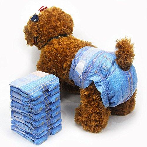 Lot de 24 couches jetables pour chien/chiot/chien/femme Taille M