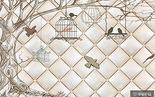 Murales de pared pintados a mano con diseño de jaula de pájaros, para dormitorio, sala de estar, sofá, TV, fondos de pared, decoración de pared, 400 x 280 cm