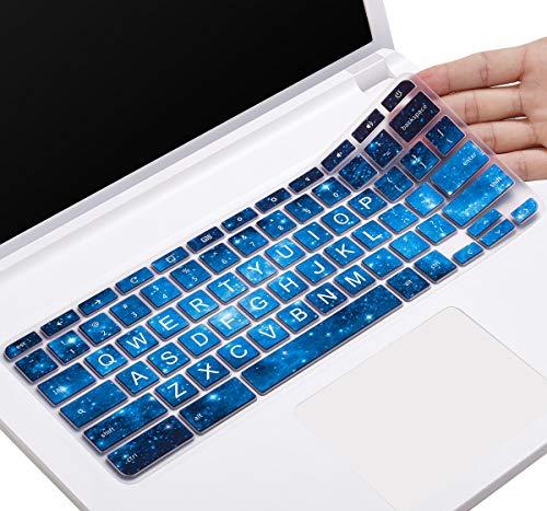 CaseBuy Keyboard Cover for Lenovo Chromebook 100E 300E 500E 11.6, Chromebook N20 N21 N22 N23 11.6, Chromebook C330 11.6, Flex 11 Chromebook, Chromebook N42 N42-20 14 inch(Upper CASE, Blue Stars)