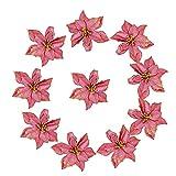 CHUXI 2021 10pcs Navidad flores árboles decoración Glitter Wed fiesta de cumpleaños decoración para ...