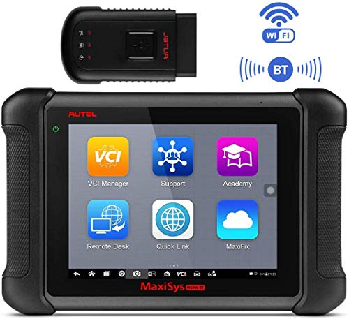 Autel Maxisys MS906BT OBD2 Diagnosegerät Bluetooth ECU Codieren Diagnosewerkzeug für alle Fahrzeuge, OBD2 Scanner Codeleser Verbesserte Version von MS906 DS708 DS808(Nur Englisch)