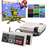 Retro Game Console,Classic Mini NES Console with Built-in 620 NES Classic Edition Games and 2 Controllers,AV Output Video Games for Kids and Adults as Gifts.