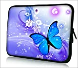 iColor 12' Laptop Sleeve Bag 11.6 12.1 12.2 inch Neoprene Notebook Tablet Computer PC Protection Sleeve Cover Case Carrier-Blue Butterfly