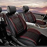 Fundas Asientos Coche Para Mazda 3 6 CX-3 CX-4 CX-5 CX-7 Axela Atenza Protector Asiento Cuero Universales 5-Asiento,Súper Suave Cómodo Negro rojo Estándar