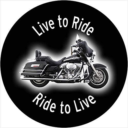 Live to Ride Motocicleta Cubierta de la llanta de refacción La Cubierta de la llanta de refacción se Adapta a Las Aberturas de cámara de Respaldo montadas centradas (255 / 70r18)