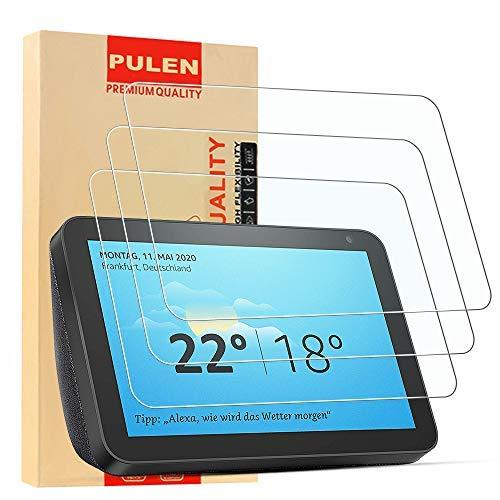 Preisvergleich Produktbild [2 Pack] PULEN Panzerglas Schutzfolie für Amazon Echo Show 8 ,  9H Glas Display schutzfolie [Anti-Kratzen] [Bubble-frei][Fingerabdruck-frei] HD Klar folie