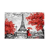 1000 Piece Puzzle for Kids and Adults Wooden Jigsaw Puzzle,Eiffel Tower&Red Lover