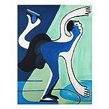 Bilderwelten Cuadro de Cristal Ernst Ludwig Kirchner The Ice Skater 4:3Tamaño: 100x75cm
