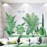 Tropical Plants Leaves Peel and Stick Wall Stickers, TANOKY Waterproof Palm Tree...
