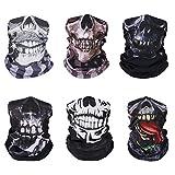 MoKo Halloween Balaclava [6 Pack], UV Protection Neck Gaiter Seamless Headwear Magic Scarf