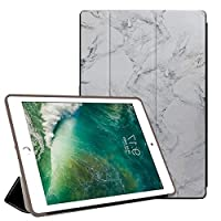 PRINDIY iPad Air 2/iPad Air タブレットケース,指紋防止 PUレザー+ PC 保護ショックプルーフ 三つ折タイプ 落下抵抗 三段角度調節 保護スマートカバー iPad Air 2/iPad Air Case-TSD13