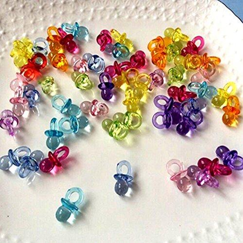 Mini-Schnuller, Acryl, Partyzubehör für Babypartys, Tischdeko, 50 Stück, acryl, mehrfarbig, M