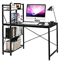 small-student desk-with-extra-storage-shelf-space-for-small-rooms