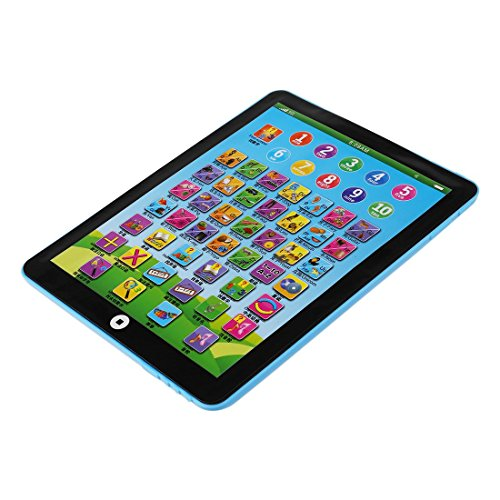wivarra Children's Baby Tablet Pad Computer Educational Toys Toy Letters Gift , Blue