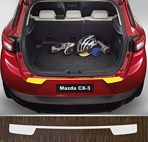 is-tuning passgenau für Mazda CX-3, ab 2015; Lackschutzfolie Ladekantenschutz transparent