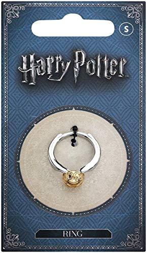 Harry Potter Anello in metallo dorato, misura M, di colore argento/oro, in confezione regalo