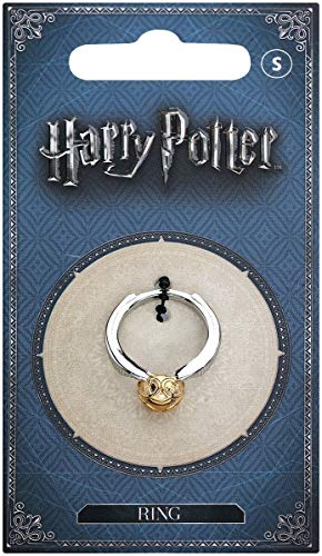 Anillo de metal dorado de Harry Potter, con caja de regalo